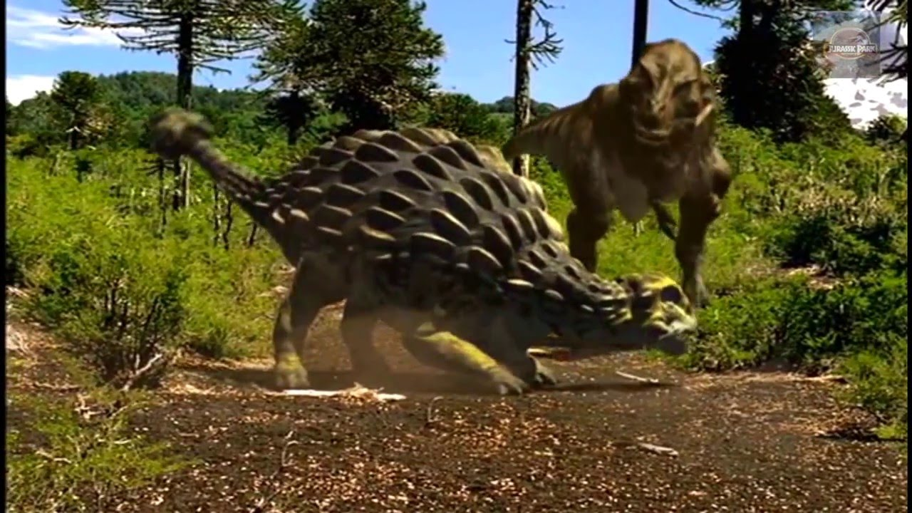 walking with dinosaurs trex vs ankylosaurus remake youtube