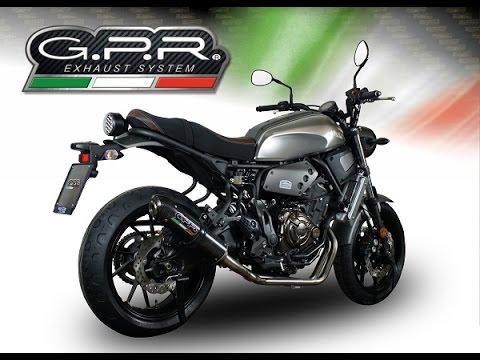 yamaha xsr 700 2015 gpr full line exhaust system scarico. Black Bedroom Furniture Sets. Home Design Ideas