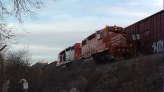 EJ&E 656 & 666 (CN Painted Devil Child) on a Kirk Yard Job Gary, IN