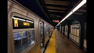 BMT Myrtle Avenue Line: OPTO R160 (M) Train @ Central Avenue