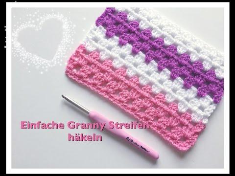 EINFACHE Granny Streifen häkeln / Granny Stripes häkeln - YouTube