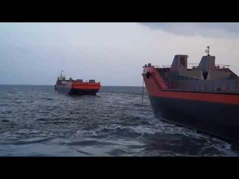 1500 m3 Split Hopper Barges Leaving From Akdeniz Shipyard