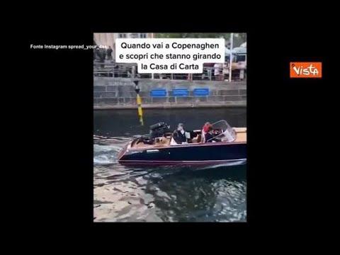 Corriere della Sera: Il cast della Casa di Carta a Copenaghen per le riprese, le immagini di un fan