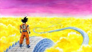 Goku on Snakeway ( Acrylic Speed Painting )
