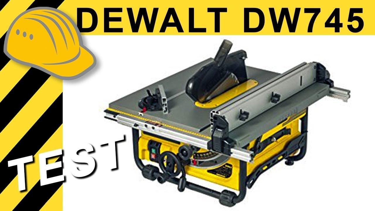 test dewalt dw745 tischkreissäge - beste 500€ kreissäge? - youtube