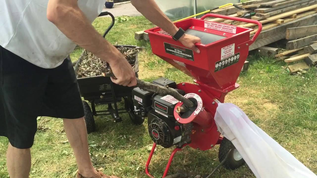 Harbor Freight Wood Chipper Tryout