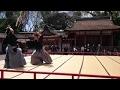 2016 石清水八幡宮 武道奉納演武 03 居合道 無双直伝英信流大日本居合道連盟/art of drawing the Japanese sword
