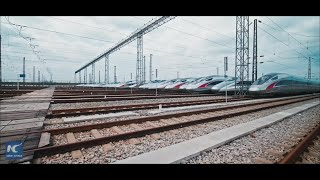 Ready to go! Bullet trains in Wuhan ready for take-off
