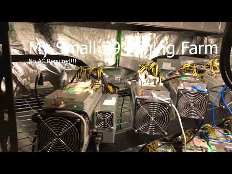 My Small S9 Mining Farm (No AC Required)