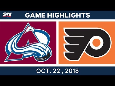 NHL Highlights | Avalanche vs. Flyers - Oct. 22, 2018