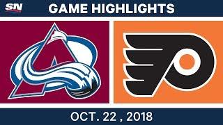 NHL Highlights | Avalanche vs. Flyers - Oct. 22, 2018