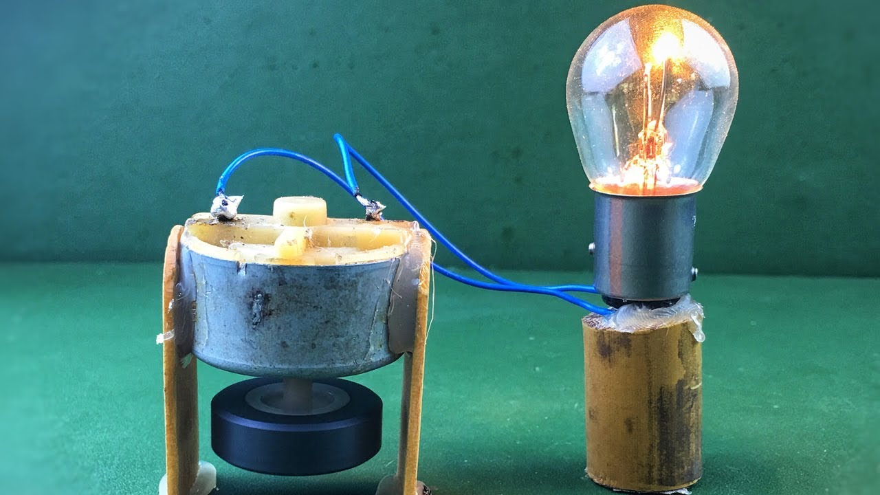 How To Make A Generator Of Free Energy Electricity At Home You