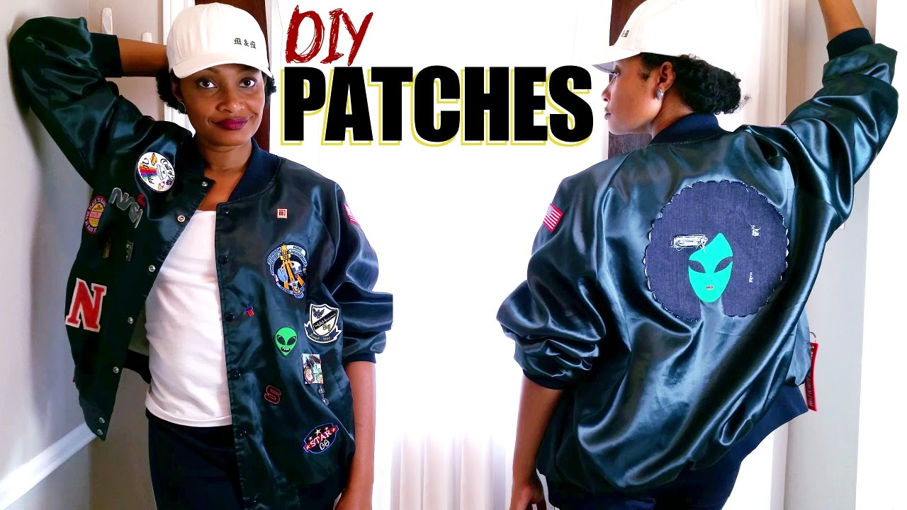 HOW TO MAKE IRON-ON PATCHES   My Afro Alien Bomber Jacket ...