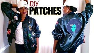 HOW TO MAKE IRON-ON PATCHES + My Afro Alien Bomber Jacket | BlueprintDIY