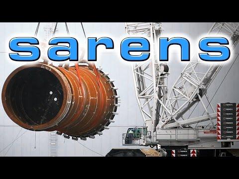 Sarens Heavy Lift 235 Tons Terex-Demag CC 2800-1 Offshore Wind Ship