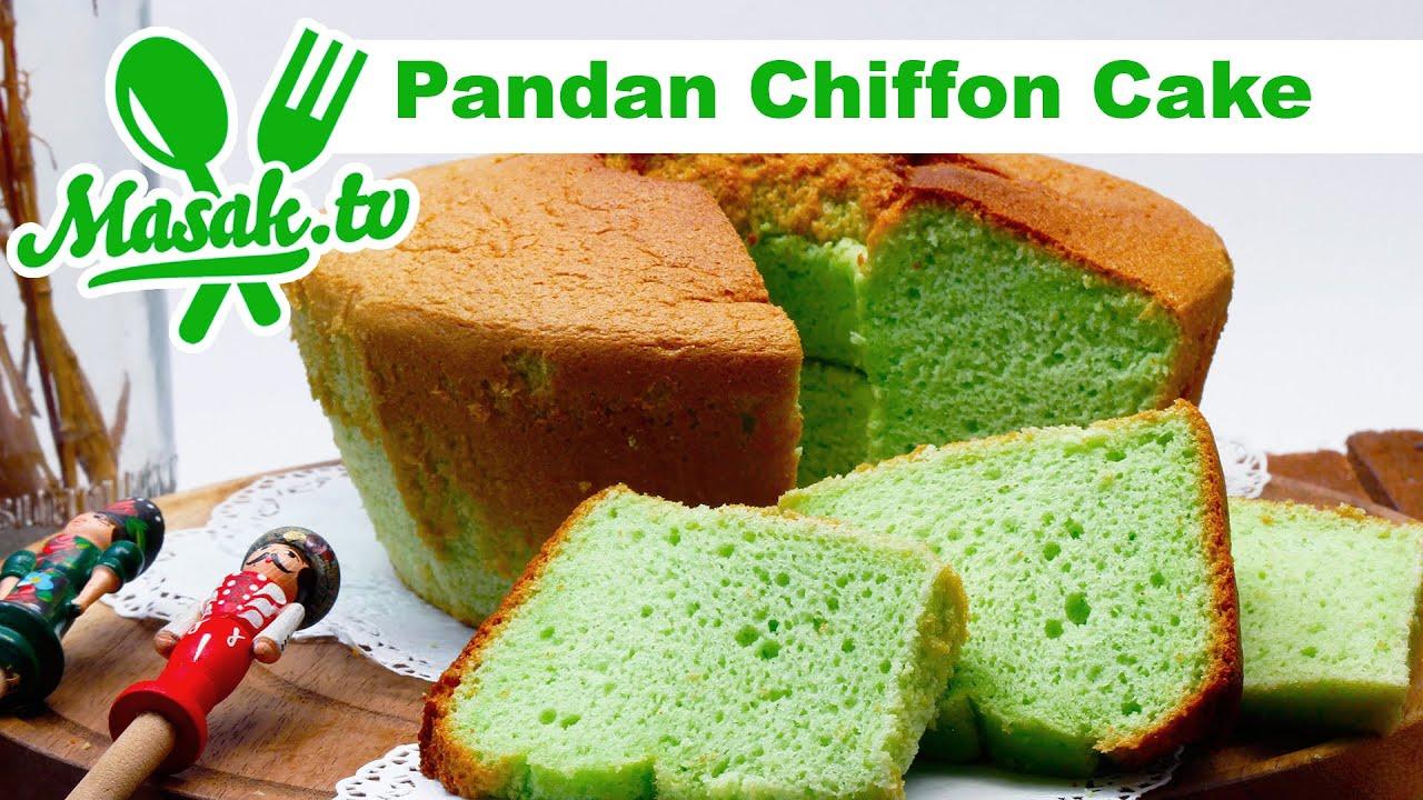 Pandan Chiffon Cake Pattiseri 016 Youtube