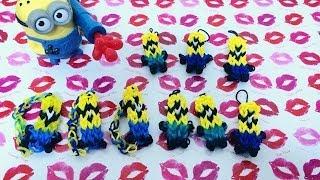 ריינבו לום - rainbow loom מדריך להכנת מחזיק מפתחות מיניון - minion