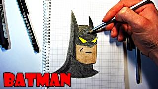 Рисуем карандашом БЭТМЕНА по клеточкам. Учимся рисовать карандашом Бэтмена по клеточкам поэтапно.(Как нарисовать карандашом бэтмена по клеточкам. https://www.youtube.com/channel/UC5Jj1a2UN9GJJKrw73w62OQ/videos., 2017-02-03T20:09:25.000Z)