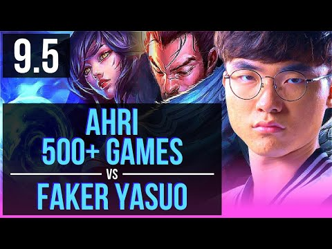 AHRI Vs Faker YASUO (MID) | 500+ Games, KDA 7/3/13 | Korea Challenger | V9.5