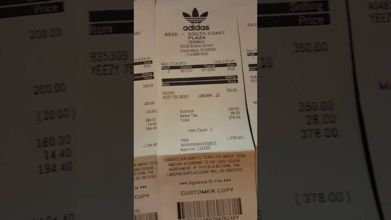 4319f472e901 ... authentic custom unauthorized authentic adidas yeezy boost 350 750  receipt for sales 79e9b 1bf14