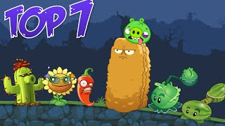 TOP 7: Plants Vs Zombies 2 Characters in Bad Piggies