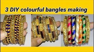 3 DIY fancy bangles making at home