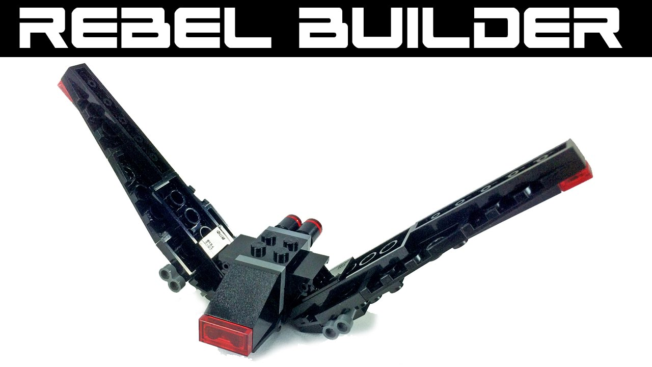 Lego Star Wars Kylo Rens Command Shuttle Mini Moc Youtube