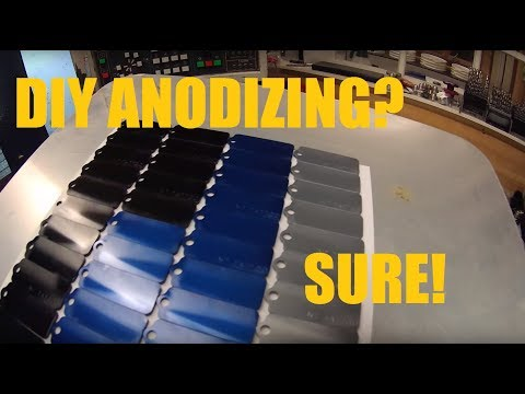 DIY Aluminum Anodizing Session by DeeWorks - My approach on small scale anodizing