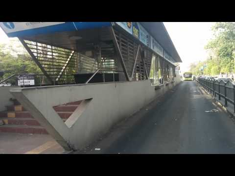 Indore Brts busstop problem near industry house