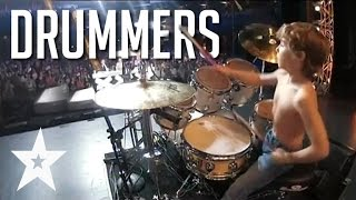Repeat youtube video 7 Skilled Drummers From Around The World On Got Talent