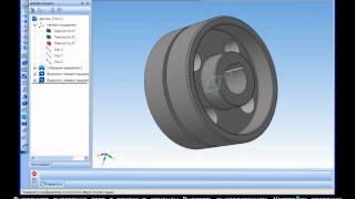 Построение 3D модели зубчатого шевронного колеса в Компас 3D