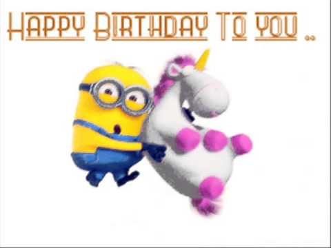 Happy Birthday Minion I Don't Own The Song, Pic, Or The Lyrics  All Rights Go To Minion And The Reco