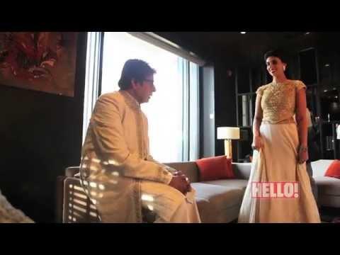 Amitabh Bachchan and Shweta Nanda - HELLO! February