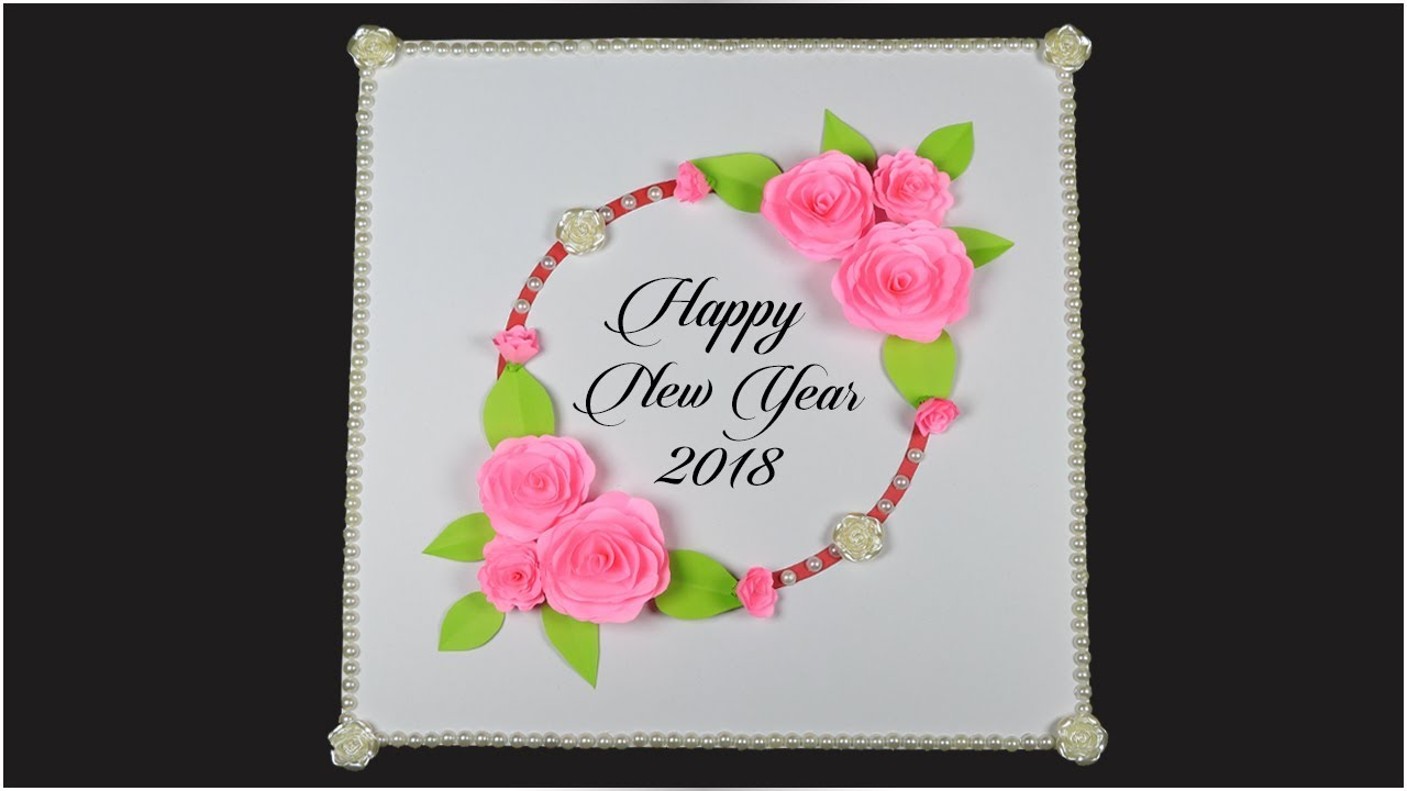 happy new year greeting card how to make a handmade greeting card for new year easy