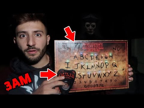 OUIJA BOARD CHALLENGE ON TOP OF OUR ROOF   DONT PLAY THE OUIJA BOARD AT 3 AM