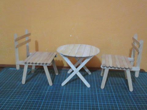 C mo hacer una mesa redonda para mu ecas con palitos - Hacer una cama de madera ...
