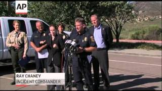 Officials Report Progress on San Diego Wildfire