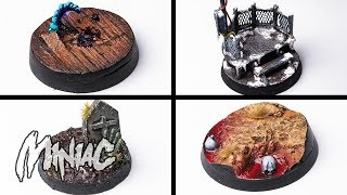 Four AWESOME Bases for your Minis!
