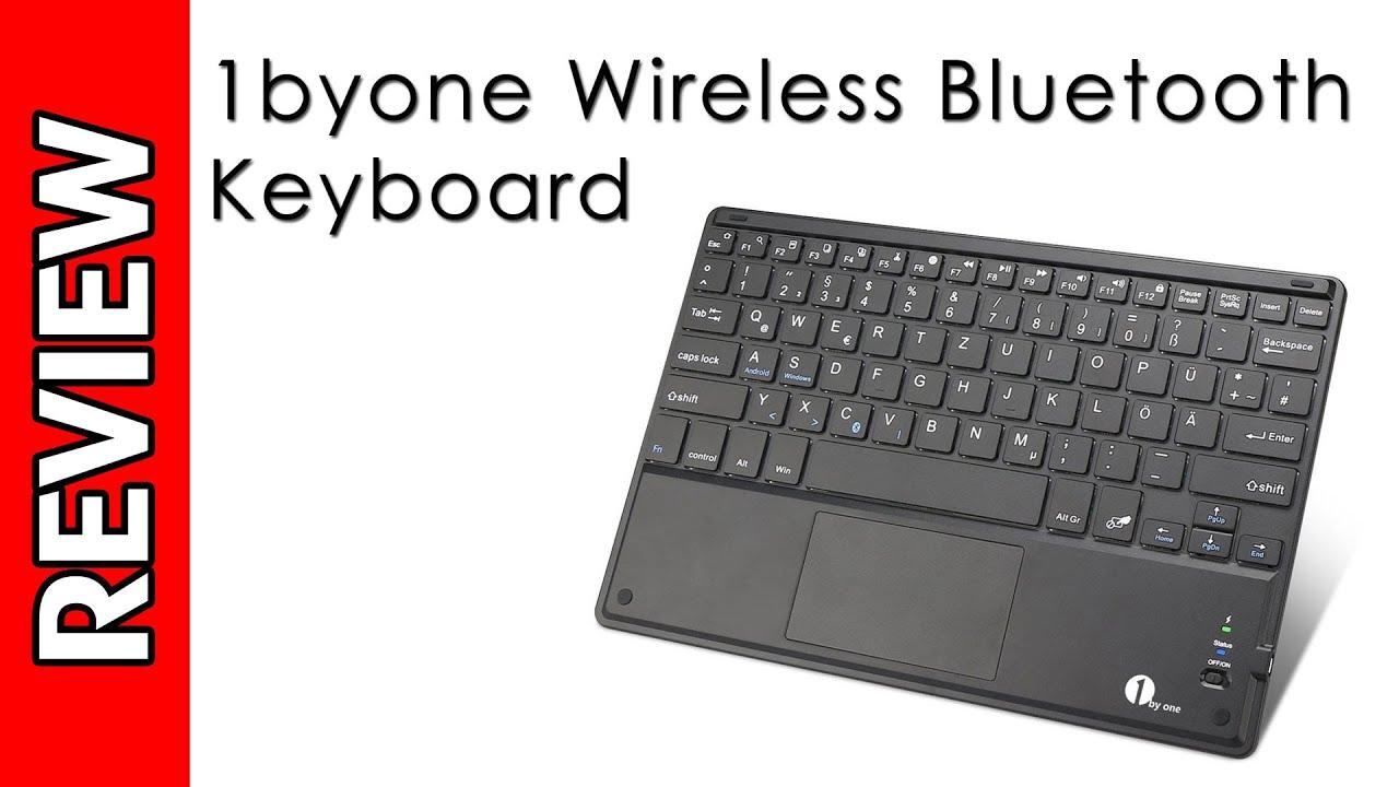be6b8e5ad21 1byone Wireless Bluetooth Keyboard Review - YouTube