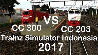 Drag Race Lokomotif CC 203 Vs CC 300 | Trainz Simulator Indonesia
