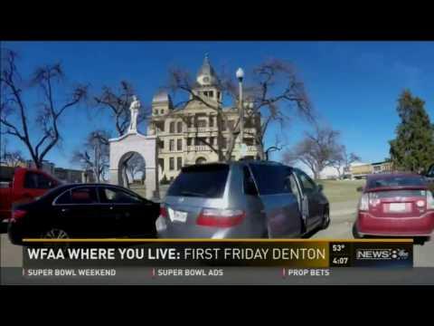 History of First Friday Denton:  A Creative art STUDIO