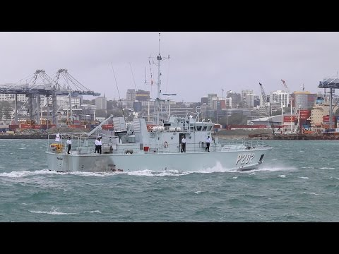New Zealand Navy turns 75 - Tongan Navy arrives. 2016.