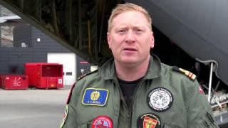 Eskadrille 690 evakuerer tilskadekomne under Grønland LIVEX 2016