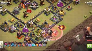 Clash of clans, clean attack with LavaLoon and Zeppelin.