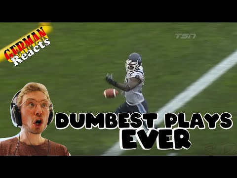 GERMAN reacts to The Dumbest Plays in Sports History!