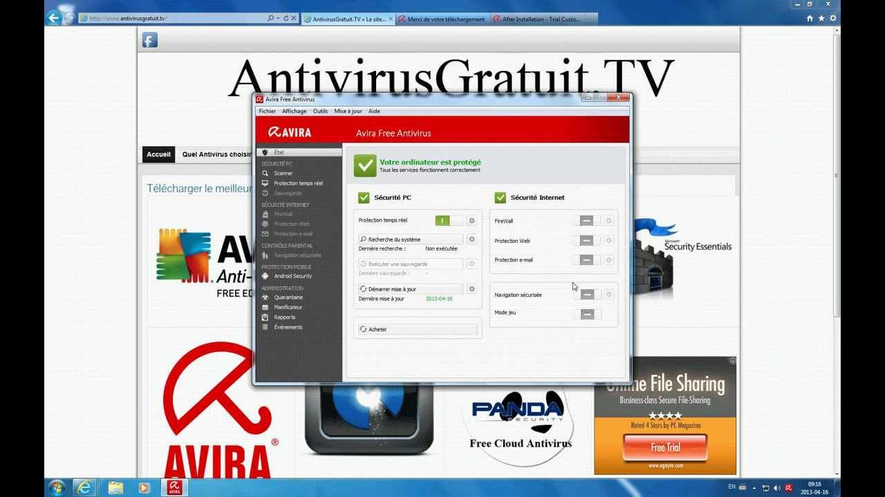 t l charger installer et d sinstaller l 39 antivirus gratuit avira youtube. Black Bedroom Furniture Sets. Home Design Ideas