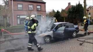 Autobrand in Heischeutstraat Oss