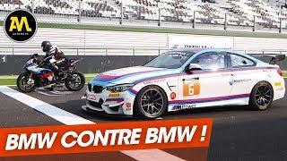Voiture contre moto : BMW M4 GT4 vs BMW S 1000 RR