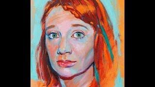 Retrato al óleo. Oil portrait. Lady in red.