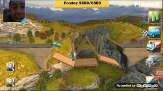 jugando juego de construir puentes